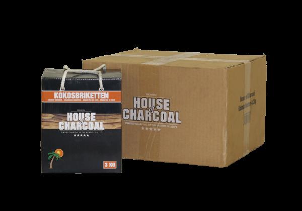 Kokos briketten House of Charcoal 3 kg